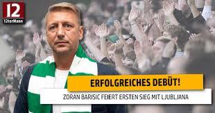 Zoran Barisic celebrates victory in coach debut for Olimpija Ljubljana